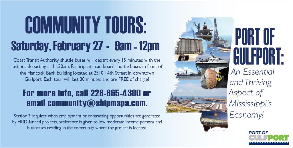 Community Tours Feb. 27